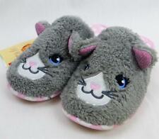 Slippers Kitten Cat PJ Couture Sz Medium 7-8 Woman Gray Grey Washable Faux Fur