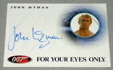 007 James Bond John Wyman Four Your Eyes Only Official 2002 Signed Card