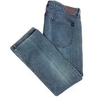 Quiksilver Blue Distortion Jeans Men's 38x29 Slim Straight Dark Cotton Denim