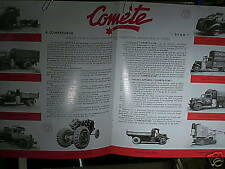 REEDITION 1993/ CATALOGUE GAZOGENE COMETE 1943 : Citroën, Peugeot, Saurer, Ford