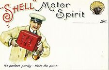SHELL MOTOR SPIRIT ITS PERFECT PURITY POSTCARD MINT UNUSED AS SCAN