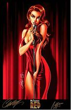 J SCOTT CAMPBELL NEI RUFFINO SDCC 2013 THE RAVISHING RED ART PRINT