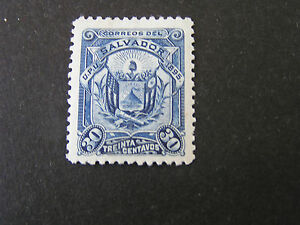 *EL SALVADOR, SCOTT # 126, 30c. VALUEDEEP BLUE.1895 COAT OF ARMS ISSUE MLH