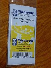Pikestuff #541-3102 HO Roof Ridge Ventilators (4pcs) Plastic Parts