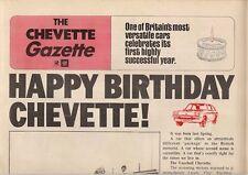 Vauxhall Chevette Gazette 1976 UK Market Newspaper Format Sales Brochure