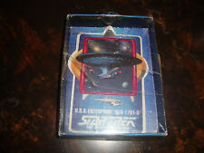 Star Trek---TNG---U.S.S. Enterprise NCC-1701-D---Porcelain Card---Worf Box--1992