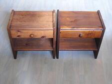 Nachttisch mit Schublade Kommode Nachtkonsole Beistelltisch aus Massivholz braun