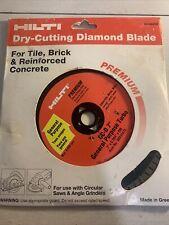 Hilti Premium Dry Cutting Diamond Blade 7 Diameter Tile Brick Concrete