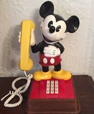 Vintage 1976 Mickey Mouse Push Button Touch Tone Telephone / PHONE Works