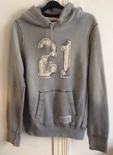 ABERCROMBIE & FITCH New York Men's Grey Hoodie Very Warm Fleece Lined Size S