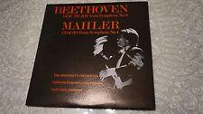 BEETHOVEN ODE TO JOY NO.9 MAHLER NO.4 FULLERTON KEITH CLARK LP NM/EX RARE