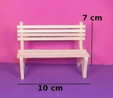 banc de jardin miniature,maison de poupée,vitrine,meuble bois brut,jardinier  M4