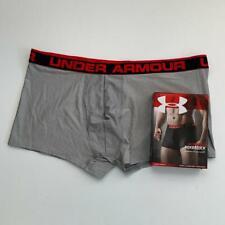 "Under Armour 3XL 46 - 48"" Original Boxerjock 3"" tech boxer Gray trunk shorts NEW"
