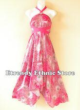 1D108 Versatile Peacock Silk Multi Wear Scarf Women Maxi Halter Dress Maternity