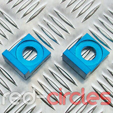 15mm BLUE ALLOY L BLOCK PIT BIKE CHAIN TENSIONERS ADJUSTERS 125cc 140cc PITBIKE