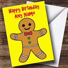 Gingerbread Man Personalised Birthday Greetings Card