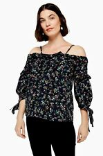 Topshop Maternity Bardot Floral Ruffle Blouse Top Sz 8 BNWT SOLD OUT