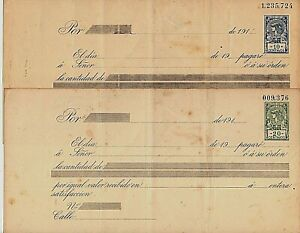 """Argentina 4  Postal Revenue 1912  """"I will pay stamps law"""" * spots 10-50ct. R11"""