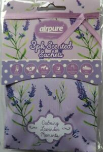 AIRPURE - AIR FRESHENER - 3 PACK SCENTED SACHETS - CALMING LAVENDER MOMETS