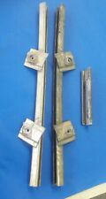 70's DATSUN 240Z WINDOW REGULATOR RAILS/GUIDES NICE OEM PARTS