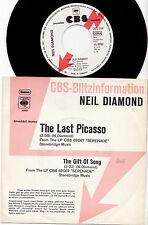 "NEIL DIAMOND - THE LAST PICASSO Ultrarare 1975 german 7"" P/S PROMO Single!"