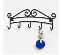 5 HOOK Key Holder Rack Hanger Organizer Decor Home Decorative Wall Mount