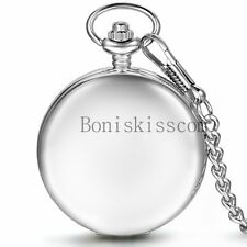 Glossy Smooth Hand-winding Mechanical Skeleton Roman Numberals Pocket Watch Gift