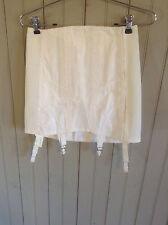 Vintage wht Rengo / Crown open Bottom girdle w/garters & hook & eye closer sz 28