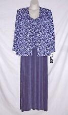 Vintage 90's - Alex Evenings - Gown & Jacket Set – Purple – Size 22W - Vwt $210