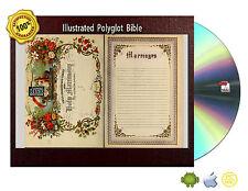 Illustrated Polyglot Bible Old & Testament Including Apocrypha ©1872 eBook CDRom