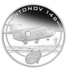 2008 Cook Islands 1 $ Antonov An-148 Colt Aircraft 1 Oz Silver Proof Coin