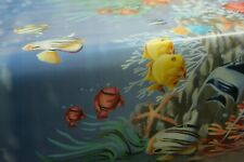 Pvc Fish Tropical Animal Water Oilcloth Vinyl Tablecloth Wipe Easy 140Cm Wide