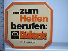 Aufkleber Sticker Diakonie - Düsseldorf - 70er Jahre - RAR - Decal (5649)