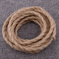 5M Retro Hemp Rope Wire 0.75 Electrical Braided Twisted Cable Wire 2 Cores