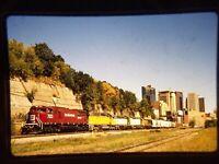 ZQ09 TRAIN SLIDE Railroad Short Line EMD 7023 St Paul MN 1995
