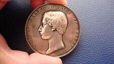 ALBERT EDWARD PRINCE OF WALES, THE VICTORIA BRIDGE 1860 SILVER MEDAL LEROUX 641