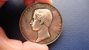 ALBERT EDWARD PRINCE OF WALES, THE VICTORIA BRIDGE 1860 SILVER MEDAL LEROUX 641