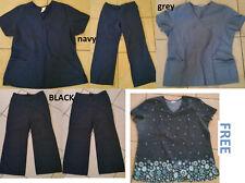 Large Scrub Lot, 5 Piece, Scrubs, Large, Work Clothes, Cheap/Basic + 1 Free Top!