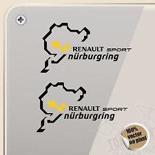 PEGATINA NURBURGRING RENAULT SPORT VINYL DECAL VINYL STICKER AUTOCOLLANT