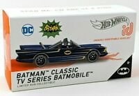 CLASSIC TV SERIES BATMOBILE ID CAR Hot Wheels BATMAN new sealed HW i.d. BLUE