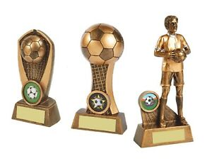 5 6 & 7 inch Football Trophy Awards engraved + postage free (RRP £22.45)