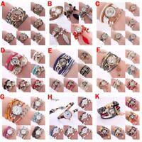 Fashion Women Bracelet Watch Triangle PU Leather Quartz Bangle Wrist XMAS Gift