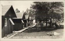 White Point Beach Nova Scotia NS River View Cabins Real Photo Postcard