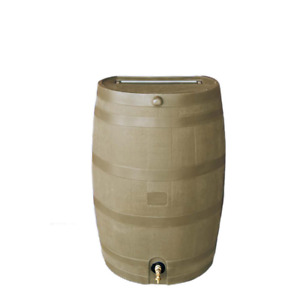 50 Gal. Rain Barrel with Oak Brass Spigot With Hose Hook-Up New