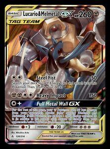 Pokemon Card - Lucario & Melmetal GX - 120/214 - Ultra Rare S&M: Unbroken Bonds