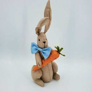 DanDee Collectors Choice Burlap Easter Bunny Rabbit Decor Bowtie Carrot
