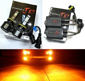 LED G8 Canceler 880 Amber Two Bulbs Fog Light Upgrade Replacement Stock Lamp OE