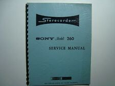 ORIGINAL Sony Superscope Model 260 Stereophonic Tape Recorder Service Manual