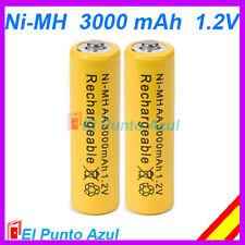 2 Pilas AA Recargables ★ 3000mAh ★ Alta Capacidad - 1,2 voltios ★ Batteries