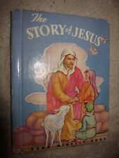 Vtg HC book, The Story of Jesus by Gloria Diener Glover, Rand McNally, 1949